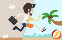 Forretningsmand på ferie